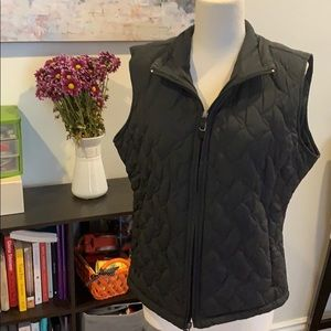 Black Zip up Vest